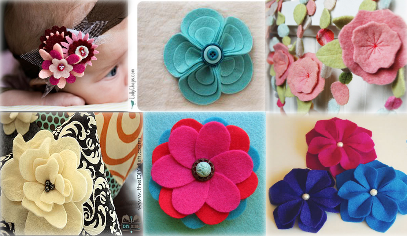 Lots and Lots of Felt Flowers