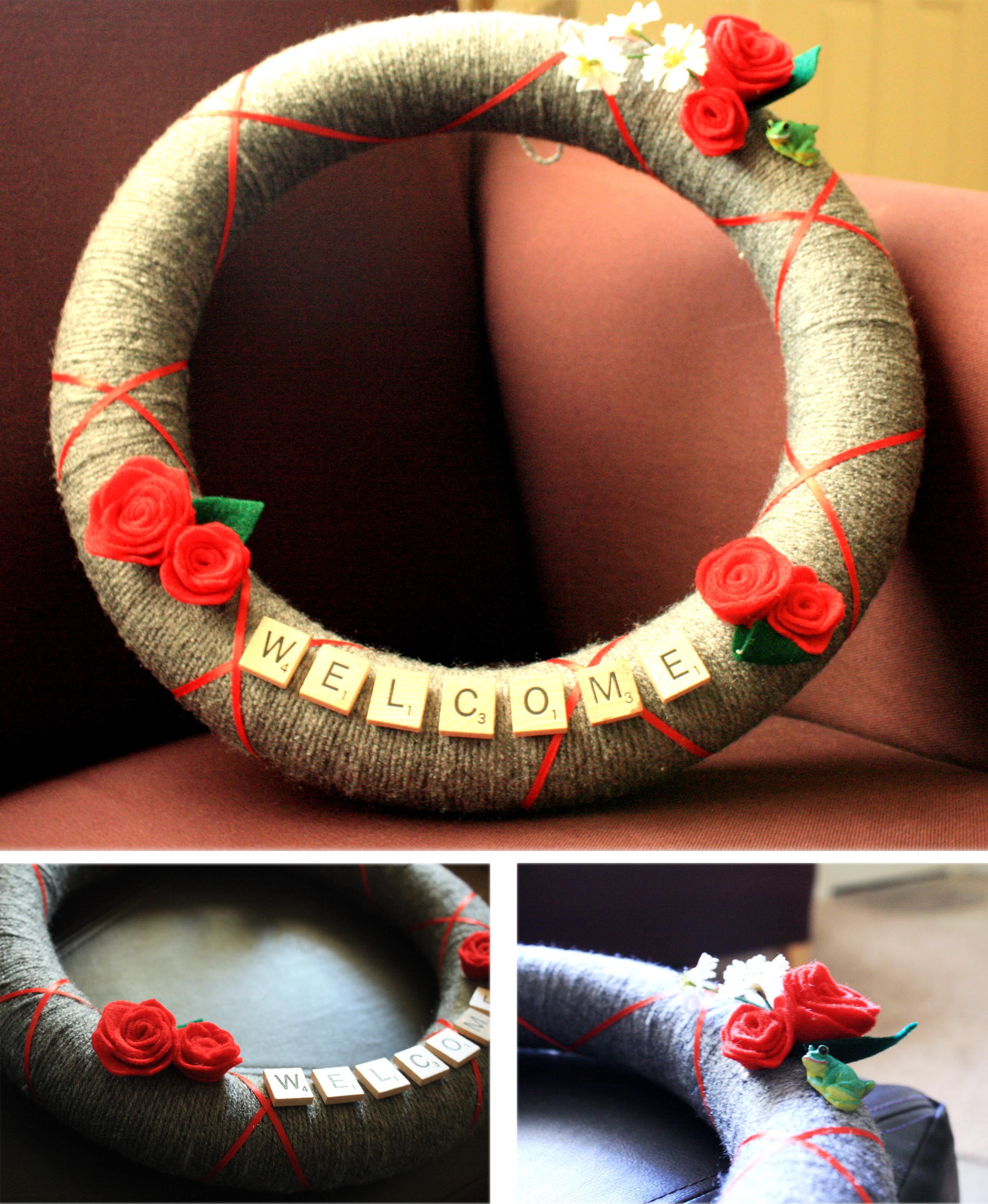 Homemade christmas gifts yarn wreath thelifeoflulubelle
