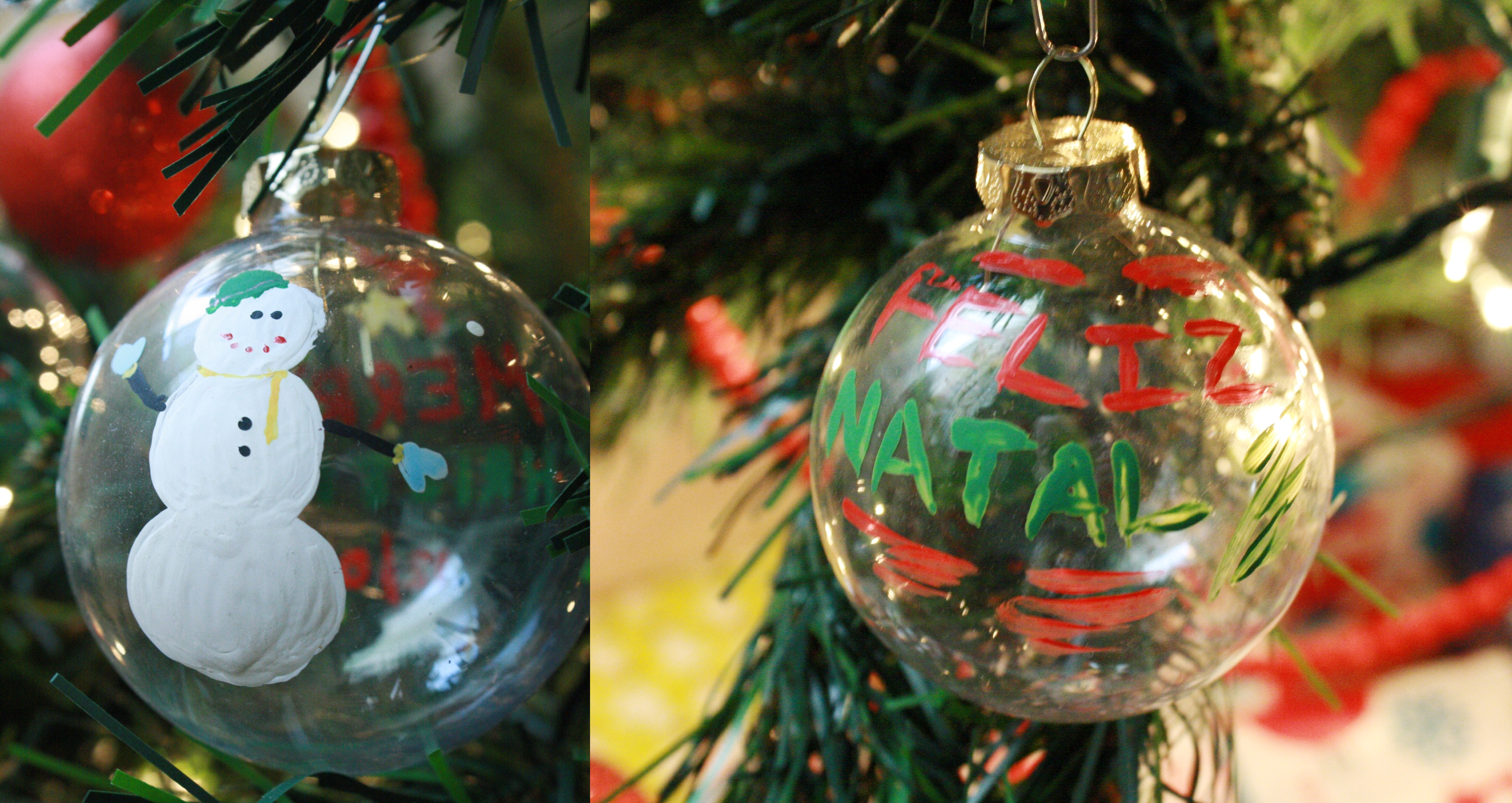 17 days until christmas glass ornament crafts for Painted glass ornaments crafts
