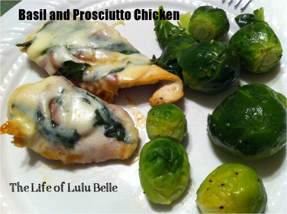 basil and prosciutto chicken