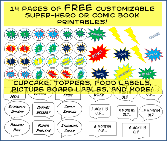 free comic book printables