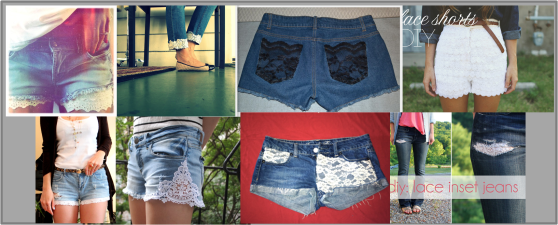 jeans and shorts lace alter