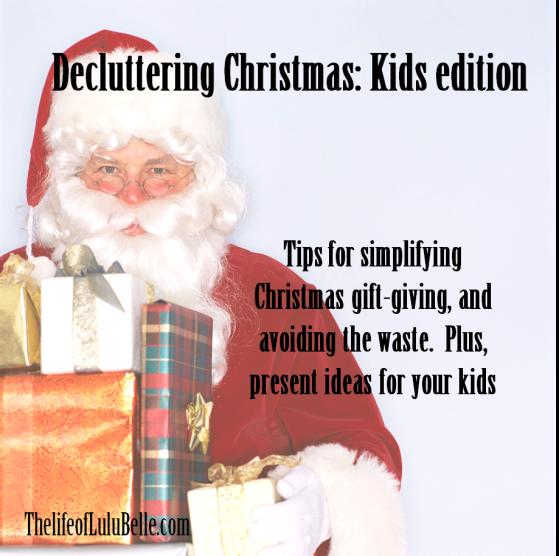 decluttering christmas